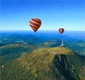 Espace Volcan Auvergne en montgolfiere